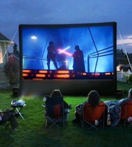 Popup Movie Screen