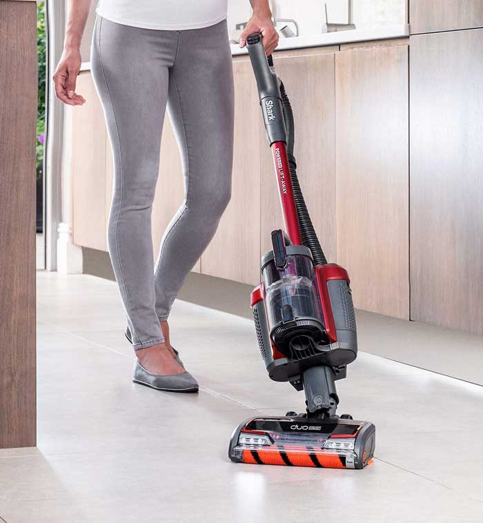 Cordless Upright Vacuum Cleaner, Pet Hair, Powered Lift-Away, Single Battery, Red